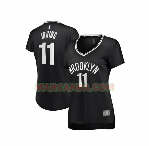 Camiseta Brooklyn Nets icon edition Negro Kyrie Irving 11 Mujer