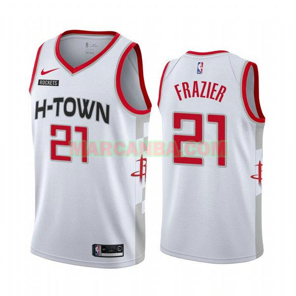 Camiseta Houston Rockets 2020-21 Temporada Statement Blanco Michael Frazier 27 Hombre