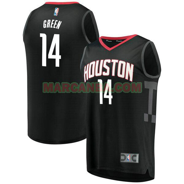 Camiseta Houston Rockets Statement Edition Negro Gerald Green 14 Hombre