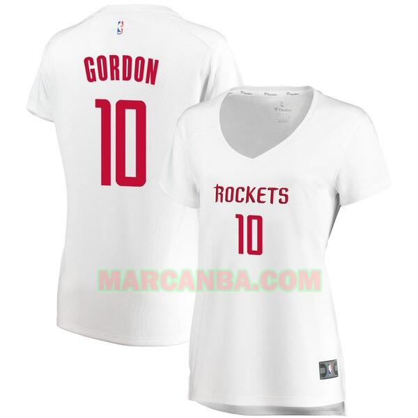 Camiseta Houston Rockets association edition Blanco Eric Gordon 10 Mujer
