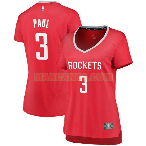 Camiseta Houston Rockets icon edition Rojo Chris Paul 3 Mujer