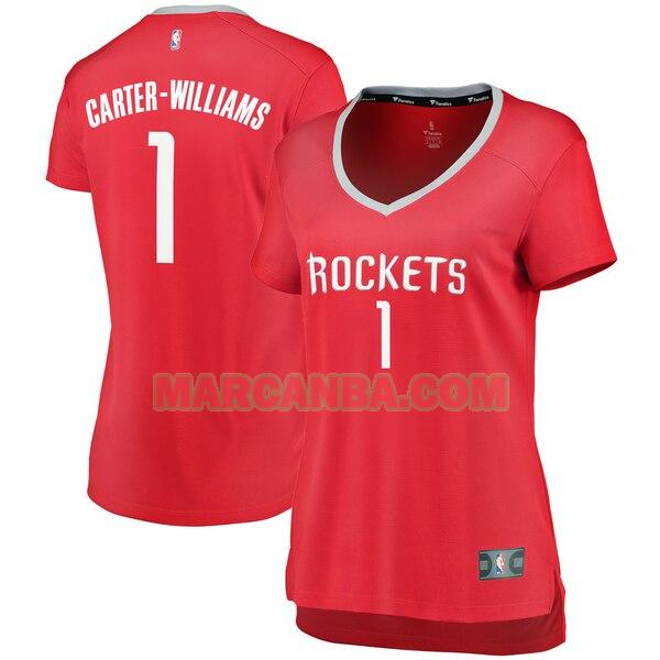 Camiseta Houston Rockets icon edition Rojo Michael Carter-Williams 1 Mujer