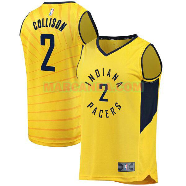 Camiseta Indiana Pacers Fast Break Alternate Jersey Amarillo Darren Collison 2 Hombre