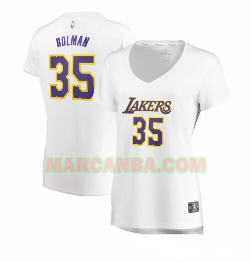 Camiseta Los Angeles Lakers association edition Blanco Aric Holman 35 Mujer