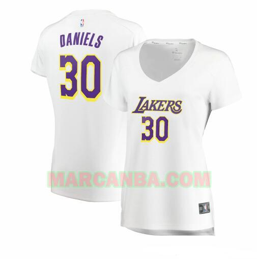 Camiseta Los Angeles Lakers association edition Blanco Troy Daniels 30 Mujer