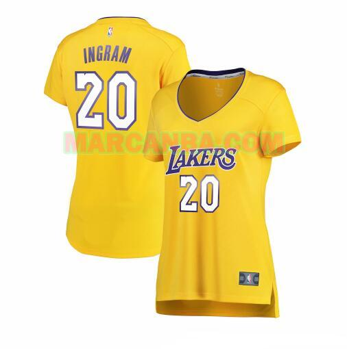 Camiseta Los Angeles Lakers icon edition Amarillo Andre Ingram 20 Mujer