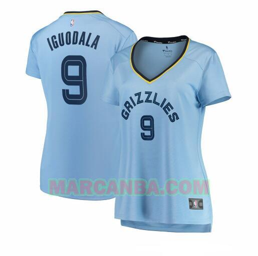 Camiseta Memphis Grizzlies statement edition Azul Andre Iguodala 9 Mujer