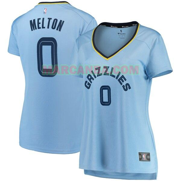 Camiseta Memphis Grizzlies statement edition Azul De'Anthony Melton 0 Mujer