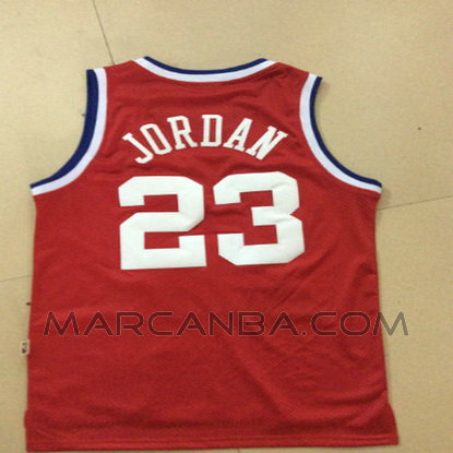 Camiseta Nba All Star 1989 Roja Para Michael Jordan 23