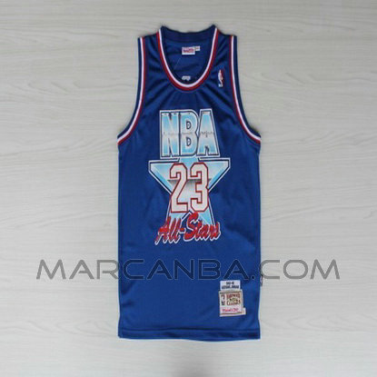 nueva camiseta nba all star 1992 azul para michael jordan 23