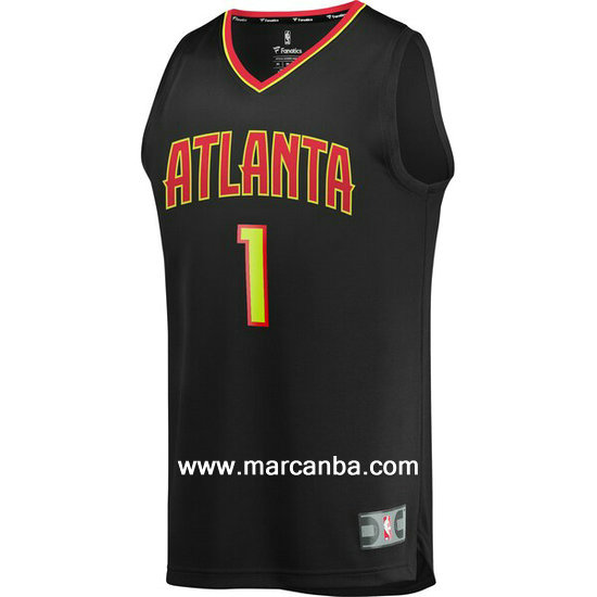 Camiseta NBA Evan Turner 1 Atlanta Hawks Negro
