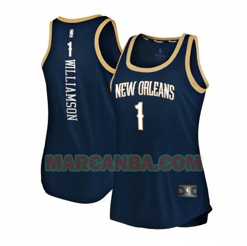 Camiseta New Orleans Pelicans 2019-2020 icon edition Armada Zion Williamson 1 Mujer