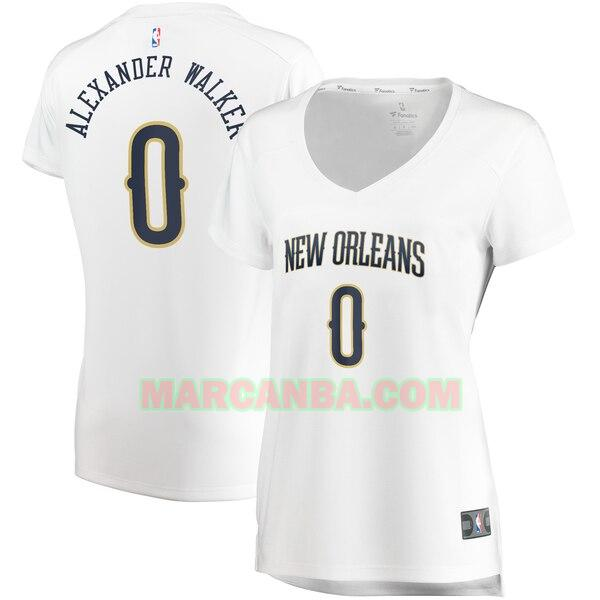 Camiseta New Orleans Pelicans association edition Blanco Nickeil Alexander-Walker 0 Mujer