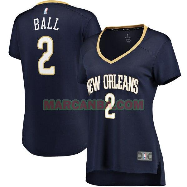 Camiseta New Orleans Pelicans icon edition Armada Lonzo Ball 2 Mujer