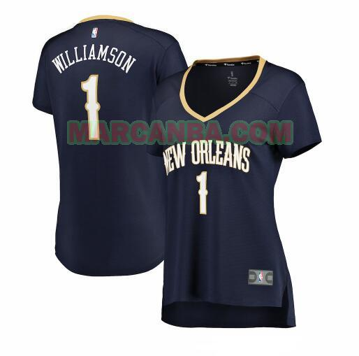 Camiseta New Orleans Pelicans icon edition Armada Zion Williamson 1 Mujer