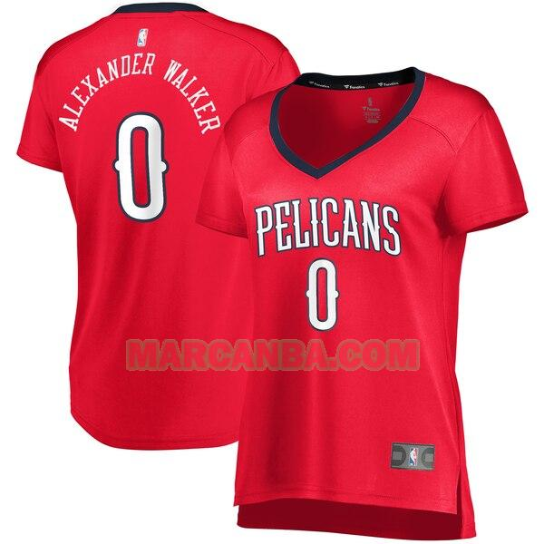 Camiseta New Orleans Pelicans statement edition Rojo Nickeil Alexander-Walker 0 Mujer