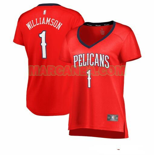 Camiseta New Orleans Pelicans statement edition Rojo Zion Williamson 1 Mujer